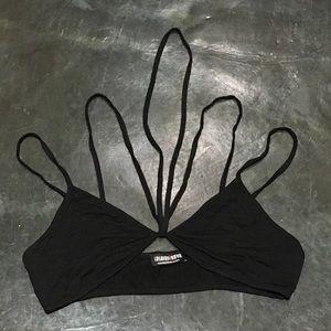 Strappy black bralette